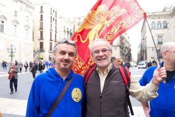 Venetian independence campaigner Geremia Agnoletti was in Barcelona to support the independence vote.